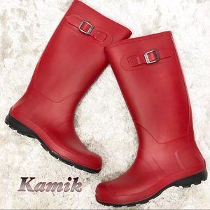 Kamik Red Rain Boots 8